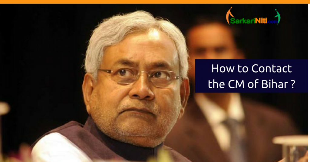 How to contact and reach out to the Chief Minister of Bihar? 2019