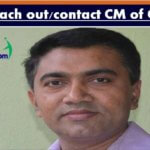 How to reach out or contact CM of Goa