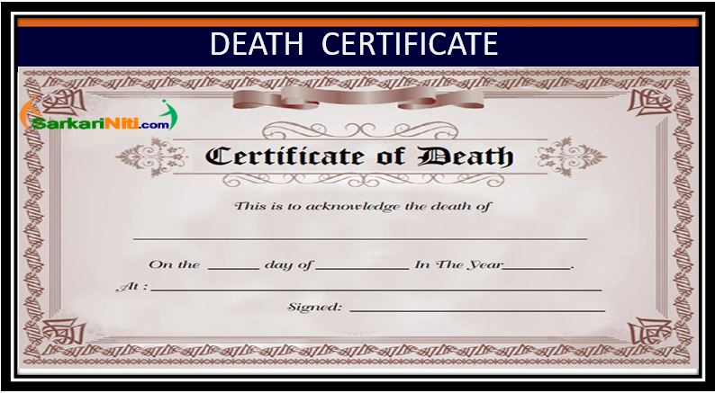 DEATH CERTIFICATE - Online Status, Application Form