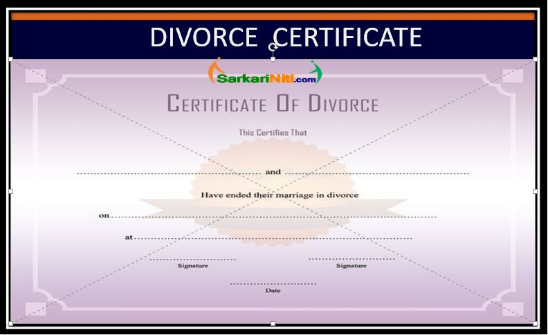Divorce Certificate A Legal Proof Of Separation Procedure
