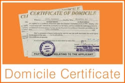 Domicile Certificate Proof Of The Residence Download Form Apply