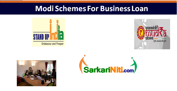 Modi Schemes For Business Loan Under 50000, 100000, 500000, 100000 And More