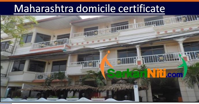 Domicile Residential Maharashtra Certificate Application Pdf