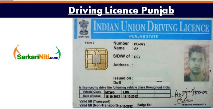 Fee Dl Online Licence Documents Renew 2019 Punjab Driving Apply
